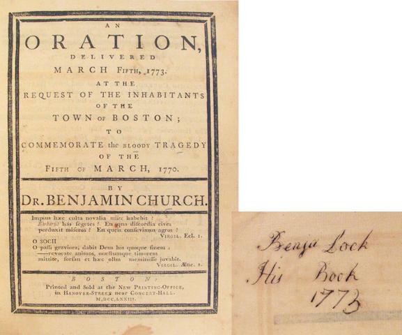 CHURCH, BENJAMIN.