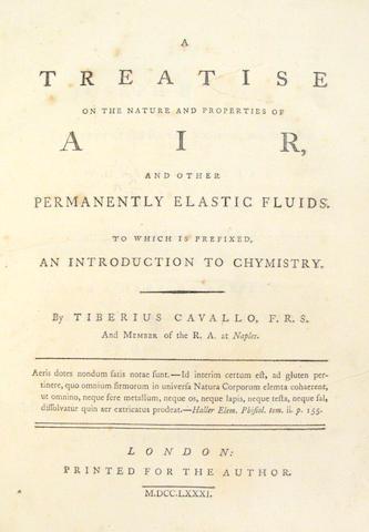 CAVALLO, TIBERIUS.  1749-1809.