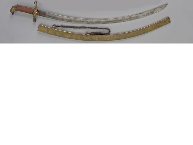 An eagle head dragoon saber