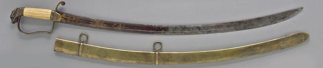 An eagle head saber