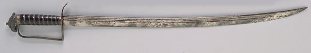 A silver-mounted eagle pommel infantry officer's sword