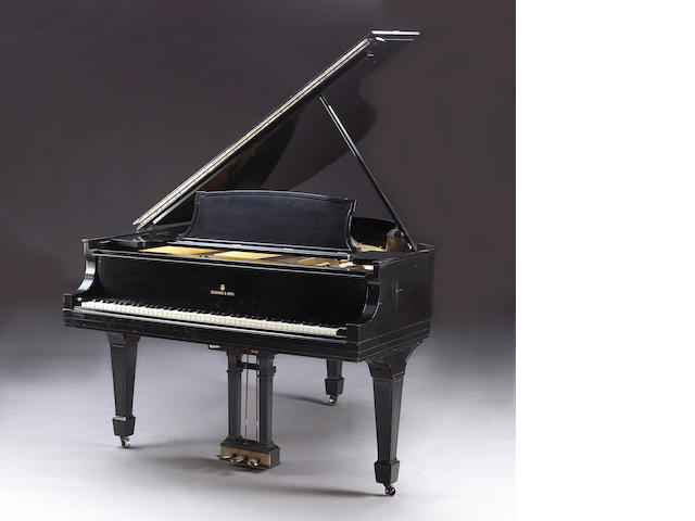 A Steinway & Sons ebonized grand piano