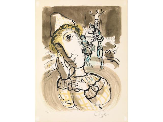 Marc Chagall Le Cirque au Clown Jaune, (M. 443), 1967