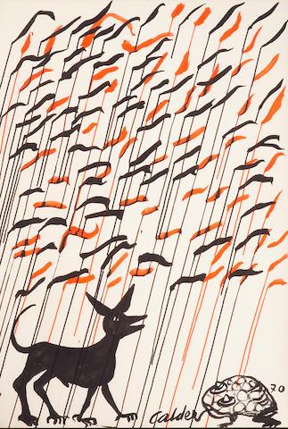 Alexander Calder (American 1898-1976) The Frog, 1970 43 x 29 3/8in (109 x 75cm)