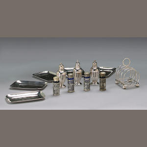 A miscellaneous group of silverplate table articles