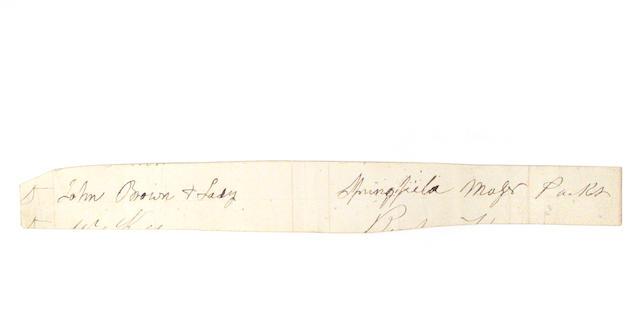BROWN, JOHN.  1800-1859.