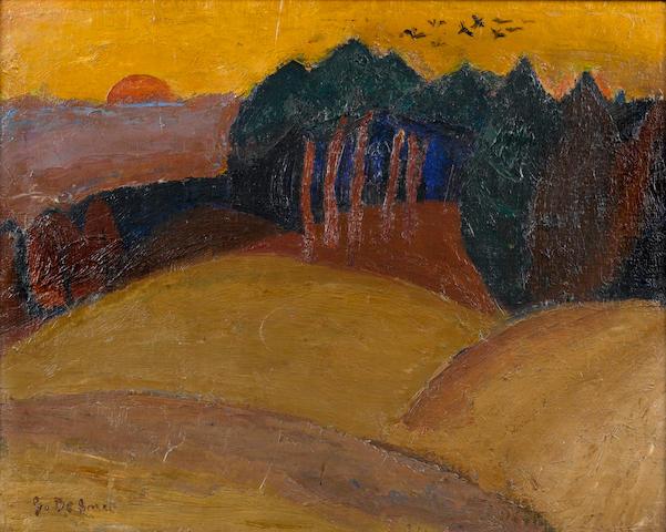 Gustave de Smet (Belgian 1877-1943) Autumn Landscape 13 6/8 x 17 1/8in (35 x 43.5cm)