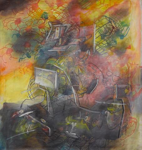 Roberto Matta (Chilean 1911-2002) Coeur Vole, 1976 39 1/2 x 37 1/2in (100 x 95cm)
