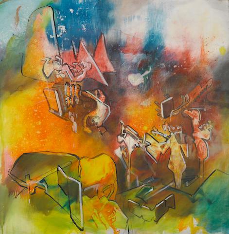 Roberto Matta (Chilean 1911-2002) Saisonne mon enfer, 1976 38 x 38 1/2in (97 x 98cm)