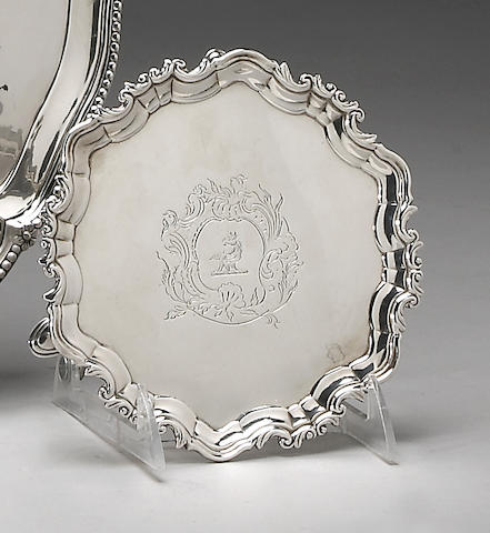Irish George II/III Silver Salver