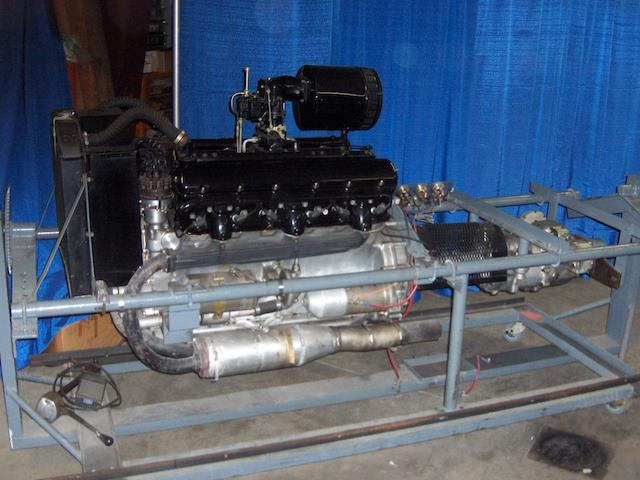 A Rolls-Royce Phantom III engine and gearbox,