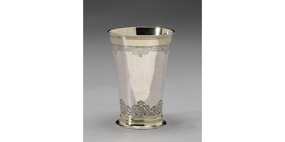 German Parcel-Gilt Silver Beaker