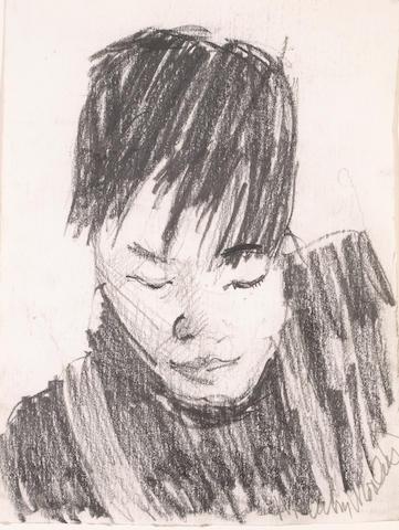 Malcolm Morley (British/American b.1931) Untitled, c.1984 10 1/4 x 7 3/4in (26 x 19.5cm)