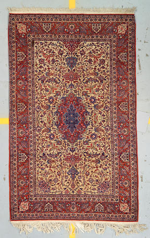 An Isphahan rug South Central Persia size approximately 7ft 7in x 4ft 8in