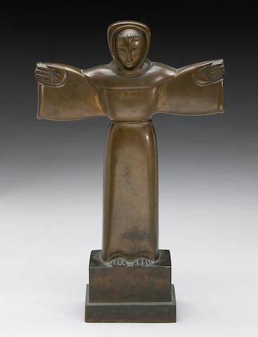 Beniamino Benvenuto Bufano  (Italian/American 1898-1970) St. Francis height 15in (38cm)