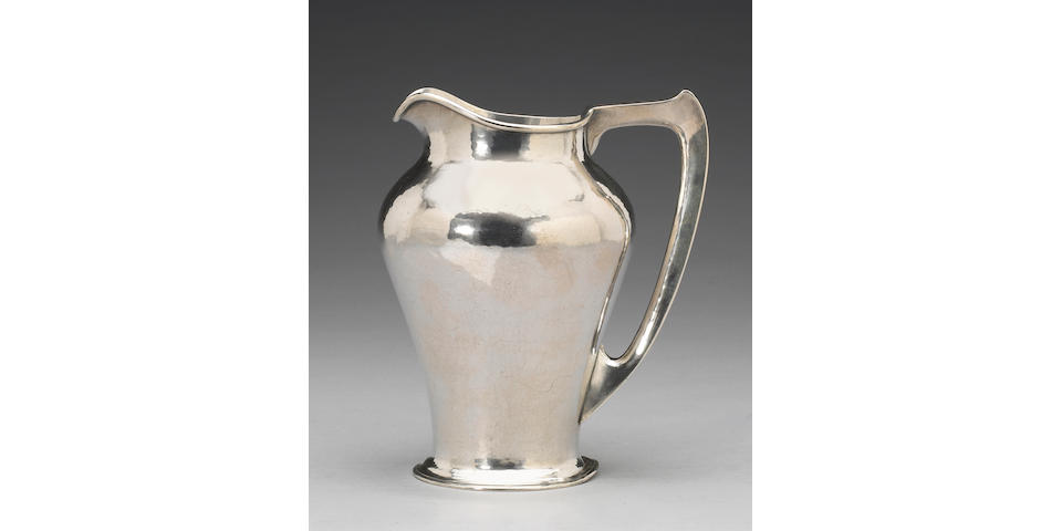 Hand Wrought Sterling Water Pitcher by Kalo