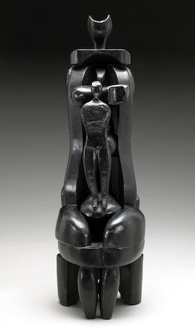 Naum Knop (Argentinian 1917-1993) Maternity, 1979 31 1/2 x 10 x 11in (80 x 25.5 x 28cm)