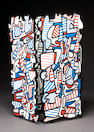 Jean Dubuffet  (French 1901-1985) Le Tetrascopique, 1971  each panel 37 x 17 3/4in (94 x 45cm)
