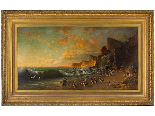 Thomas Hill (1829-1908) Purissima Falls, 1876 36 x 70in