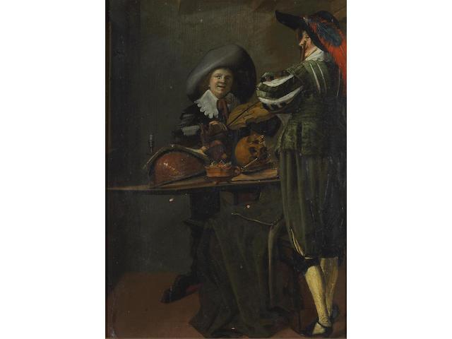 Dirck Hals (Dutch ca.1591-1656) The duet 13 1/2 x 9in (34.3 x 22.9cm)