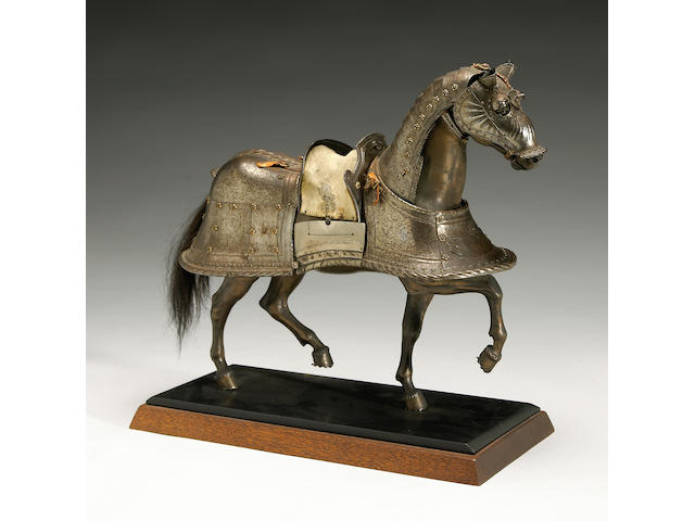 A miniature horse barding in early 16th century style
