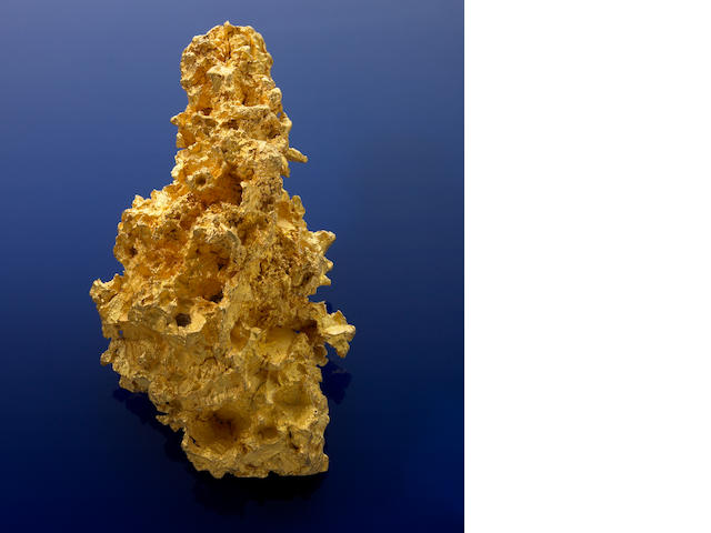 Large gold nugget, 84.08 ozt