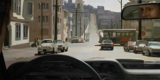 'Steve McQueen's View of San Francisco's Hills', by JW 24 x 48in