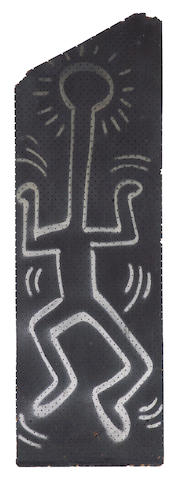 Keith Haring (American 1958-1990) Untitled, 1984 irregular 62 x 20in (157.5 x 51cm)
