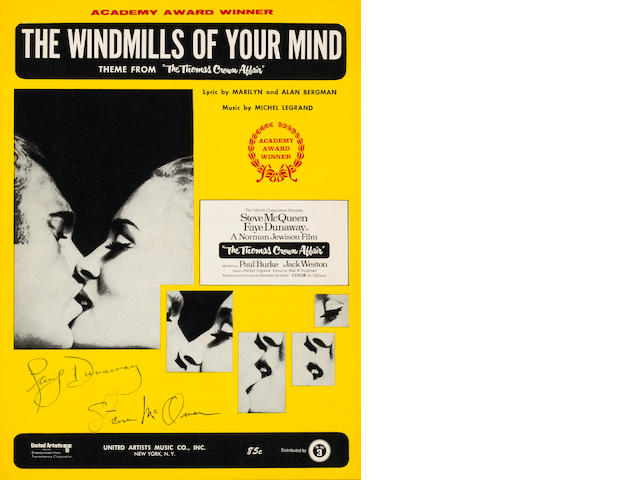 The Windmills of Your Mind sheet music 12 x 9in