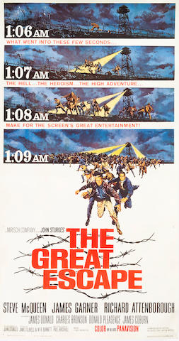 "A ""The Great Escape"" movie poster 81 x 41in"
