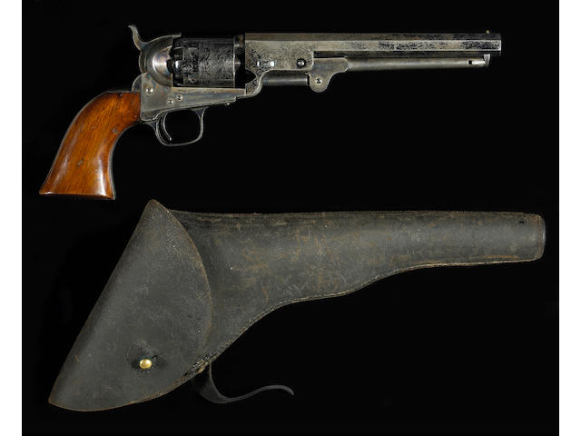 A scarce Colt Model 1851 Navy percussion revolver for the Upper Canada Militia