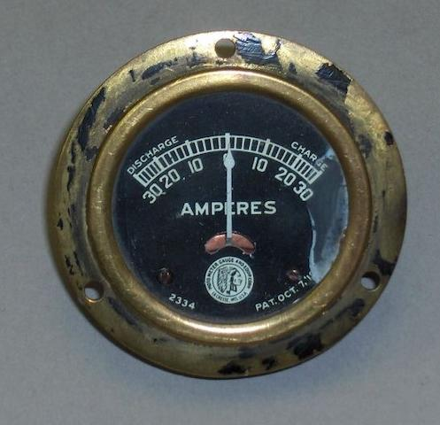 An Indian Motorcycles amp meter,