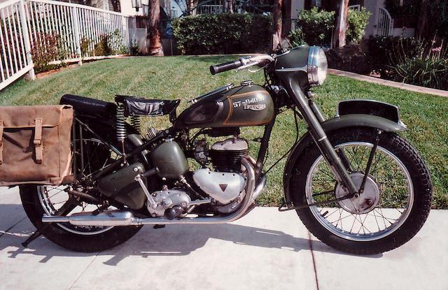 c.1953 Triumph 500cc TRW Frame no. TRW25912 Engine no. TRW25912