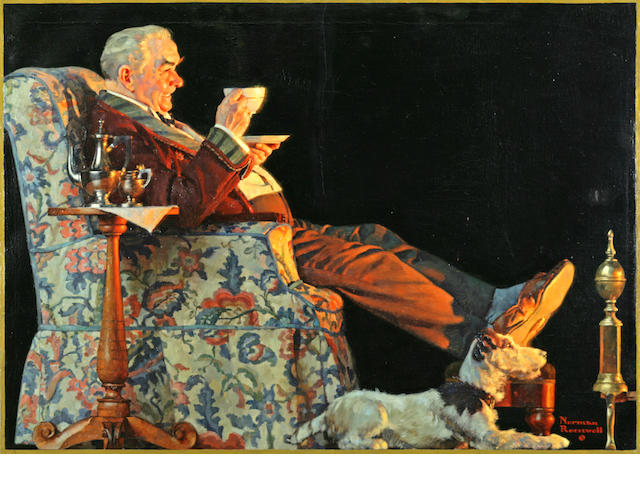 Norman Perceval Rockwell (1894-1978) Yes Sir! That's Hills Brothers Coffee 24 x 34in