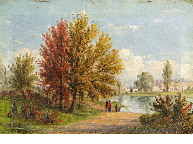 William Rickarby Miller (1818-1893) The House and Sabbath Day Picnic: two 4 x 6in; 4 x 5 1/2in