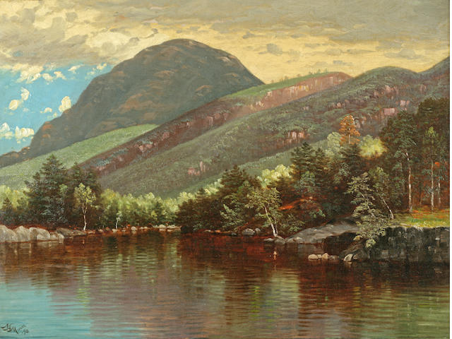 Nelson Augustus Moore (1824-1902) Lake George, 1892 18 x 24in