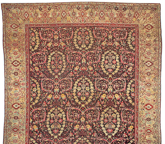 A Lahore carpet India size approximately 14ft 1in x 18ft 6in