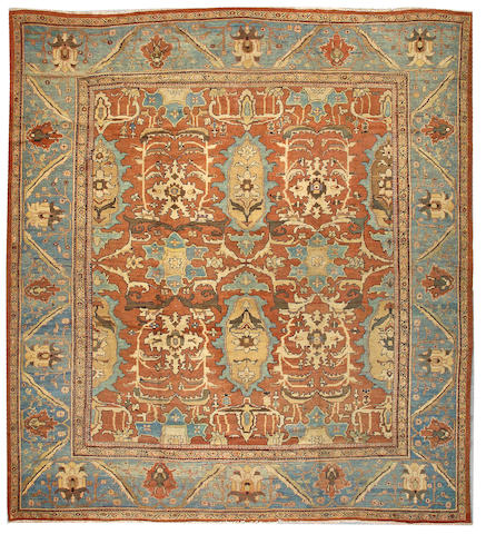 A Sultanabad carpet Central Persia size approximately 12ft 3in x 13ft 6in