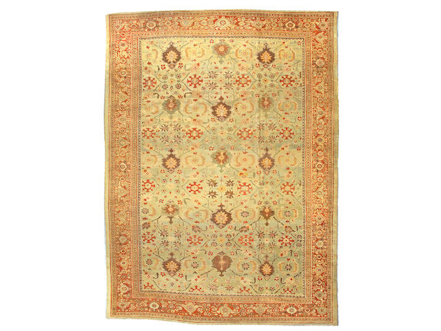 A Sultanabad carpet Central Persia size approximately 10ft 3in x 14ft