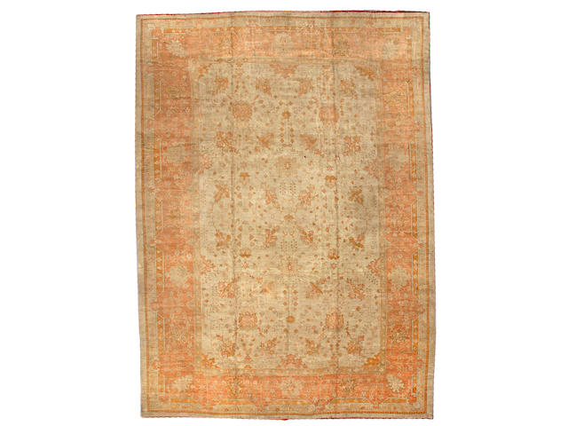 An Oushak carpet West Anatolia size approximately 11ft 6in x 15ft 10in