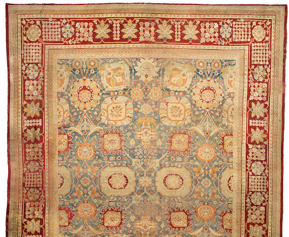 An Agra carpet India size approximately 15ft x 18ft