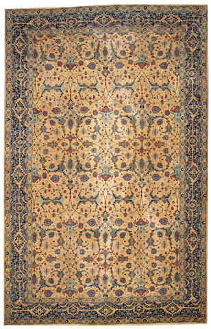 A Tabriz carpet Northwest Persia size approximately 9ft 7in x 15ft 2in