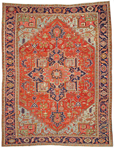 A Heriz carpet  Northwest Persia size approximately 11ft 9in x 15ft 3in
