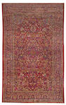 A Silk Kashan rug Central Persia size approximately