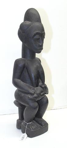 A Baule maternity figure