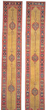 A pair of Northwest Persian runners size approximately 3ft x 18ft 1in each