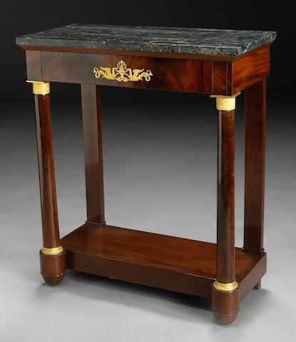 An Empire mahogany console table
