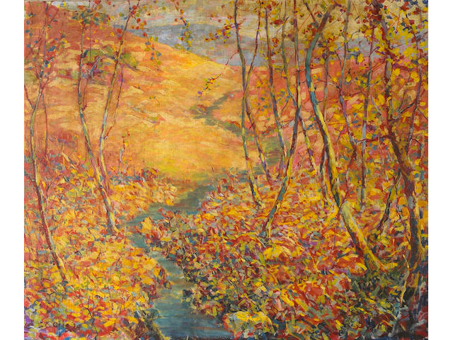 Selden Connor Gile (1877-1947) Hills in Autumn, 1929 34 x 40in