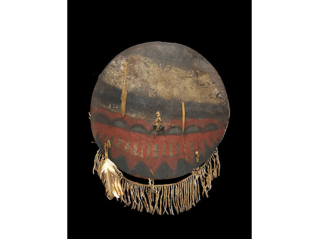 A Comanche shield, ex-George Catlin