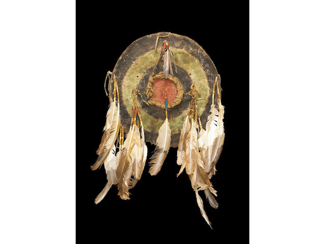 An Arapaho war shield
